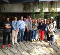 Camusso con i delegati Cgil in Loro Piana