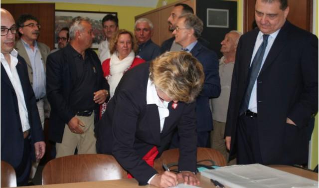 Visita di Susanna Camusso all'Archivio storico (giugno 2016)