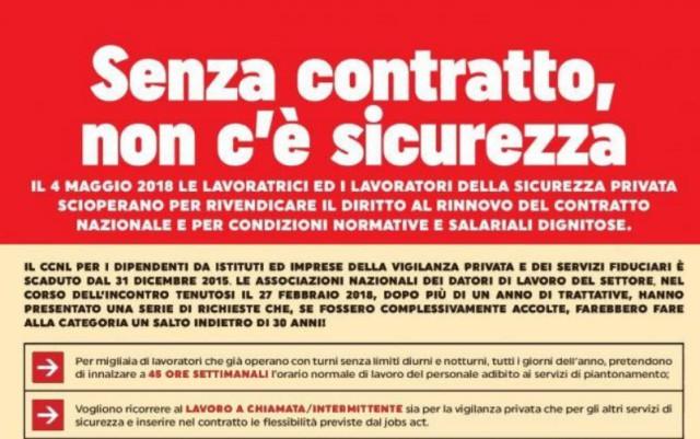 sciopero vigilanza privata