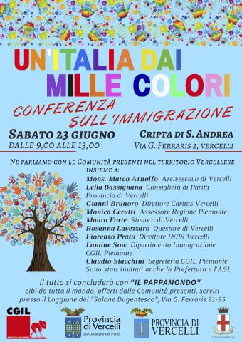 italia dai mille colori-conferenza immigraz.23 giugno