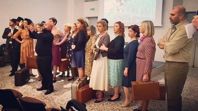 """Un momento di """"Riso Amaro - 70 anni di un mito"""", appuntamento organizzato il 27 novembre 2019 per lanciare la seconda edizione del Premio"""