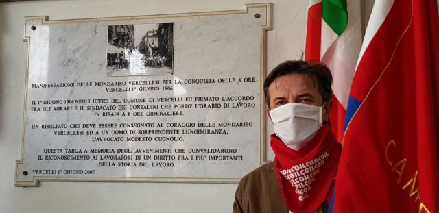 Vercelli, il segretario generale Valter Bossoni